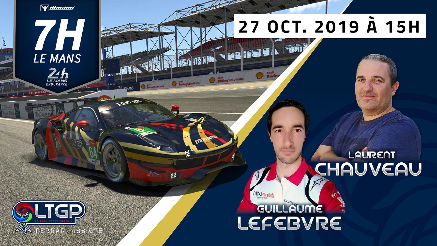 Participation 7h Le Mans LTGP Gold
